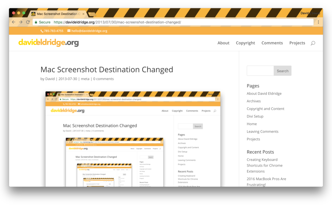Mac Screenshot Destination Changed
